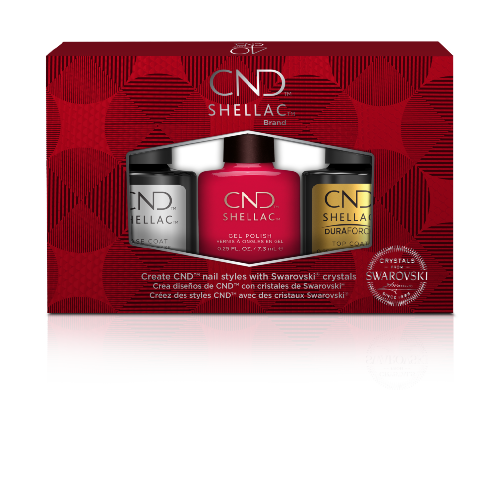 CND Shellac PRO szett - LIMITÁLT kiadás Swarovski kristályokkal, nail arttal