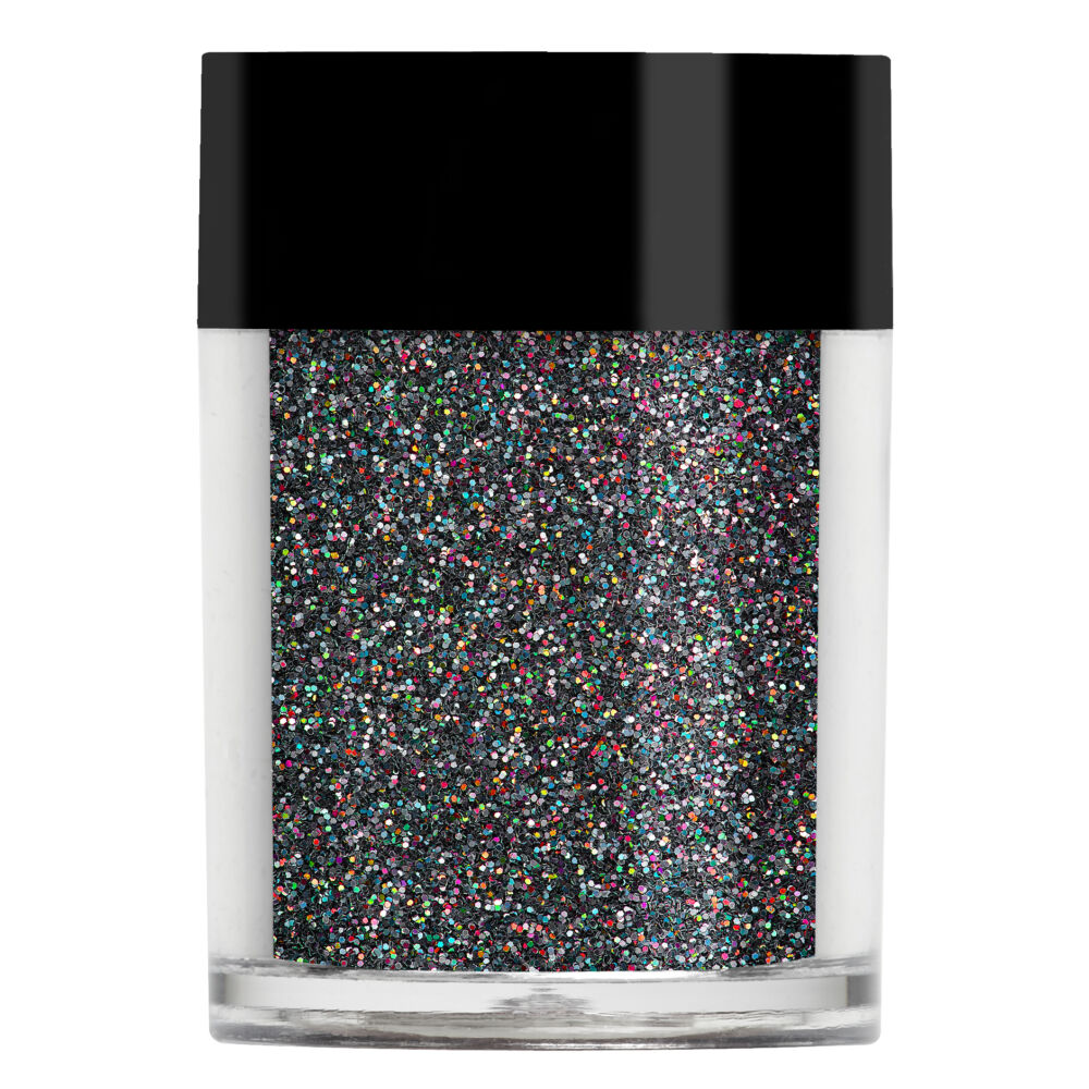Lecente Black Holographic Glitter