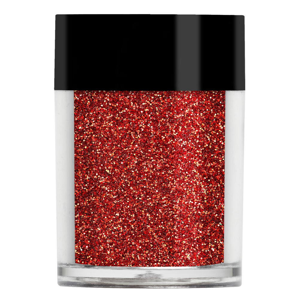 Lecenté Bright Red Ultra Fine Glitter