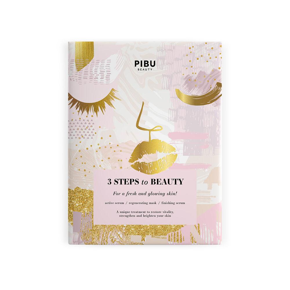 PIBU BEAUTY 3 Steps to Beauty - 3 lépéses arcmaszk