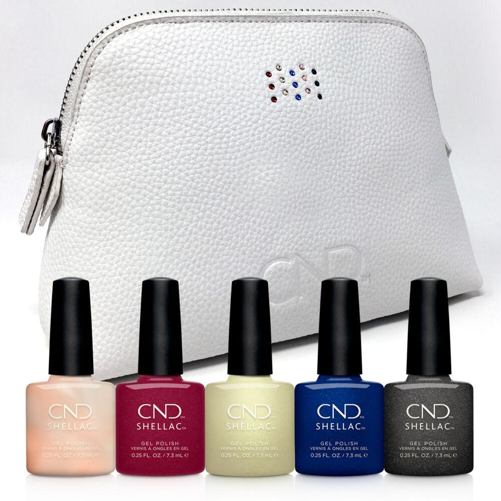 CND Shellac Crystal Alchemy kollekció limitált Swarovski kozmetikai táskával
