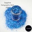 Lecenté Sapphire Holographic Multi Glitz