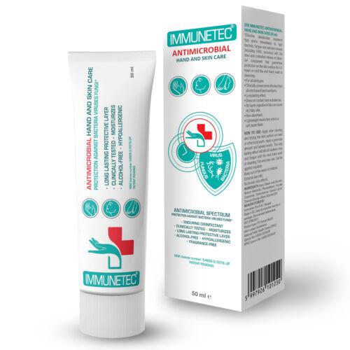 Immunetec antimikrobiális kéz- és bőrvédő krém – 50 ml