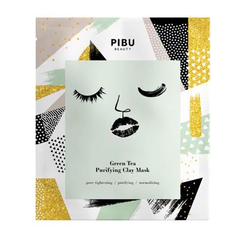 PIBU Beauty mélytisztító agyagos arcmaszk zöldtea kivonattal