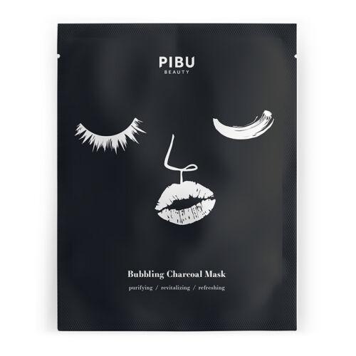 PIBU Beauty arcmaszk mélytisztító habzó szénmaszk