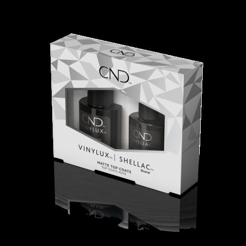CND Shellac & Vinylux Matte Top Coat DUO