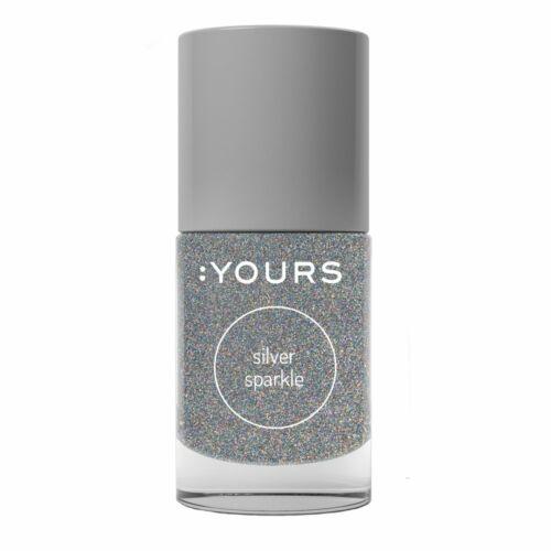 :YOURS Silver Sparkle nyomdalakk